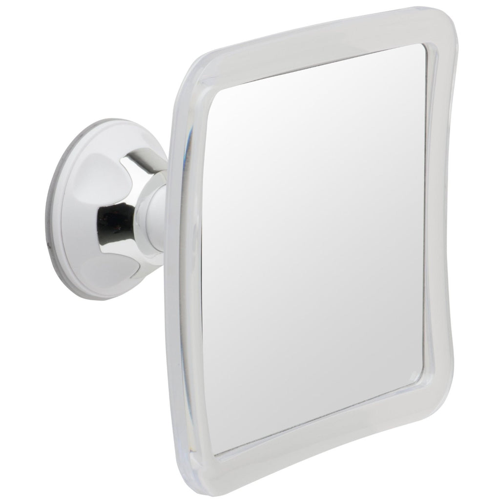 Mirrorvana Fogless Shower Mirror with Lock Suction-Cup, 6.3″ x 6.3″, 1