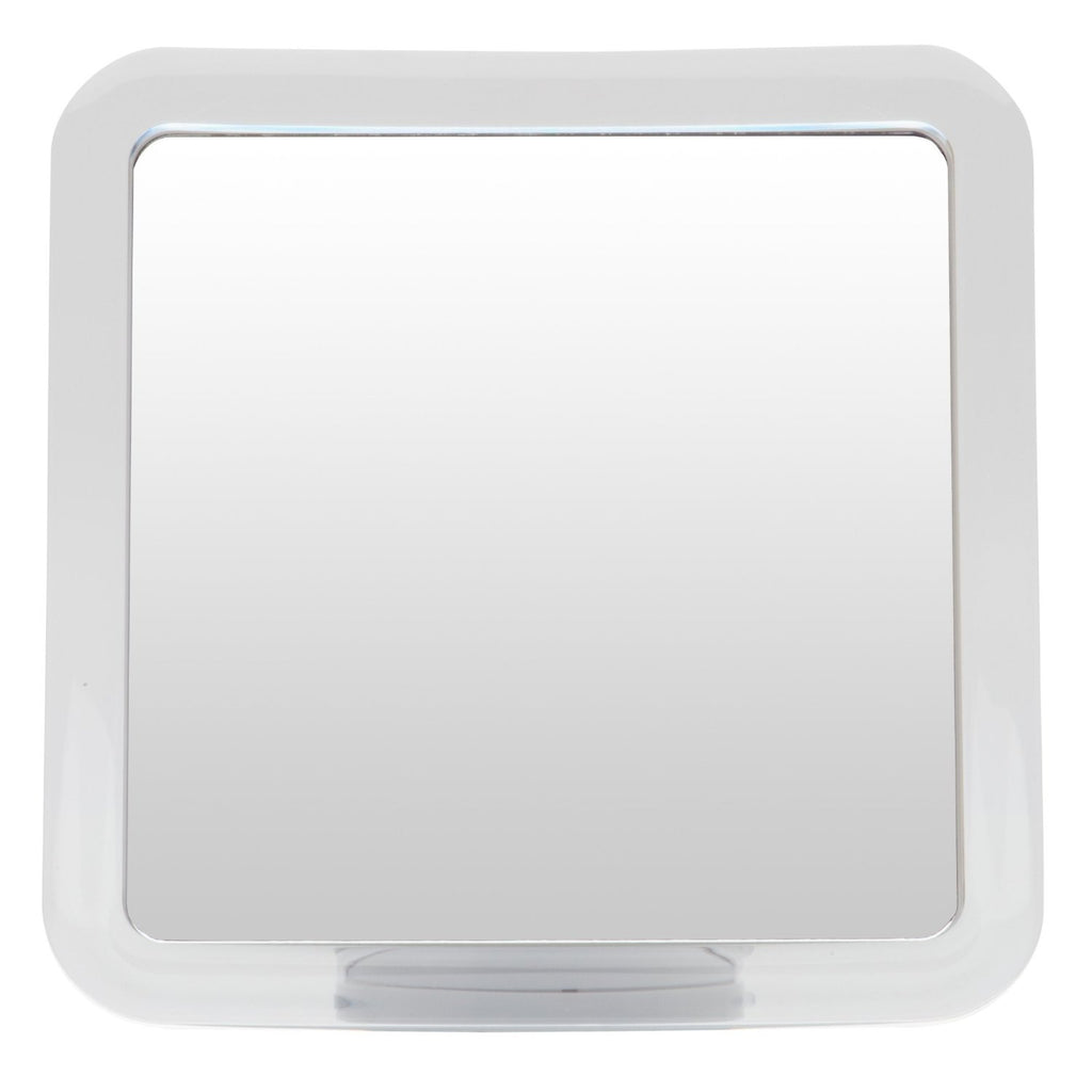 Mirrorvana Fogless Shower Mirror with Lock Suction-Cup, 6.3″ x 6.3″, 1X Magnification