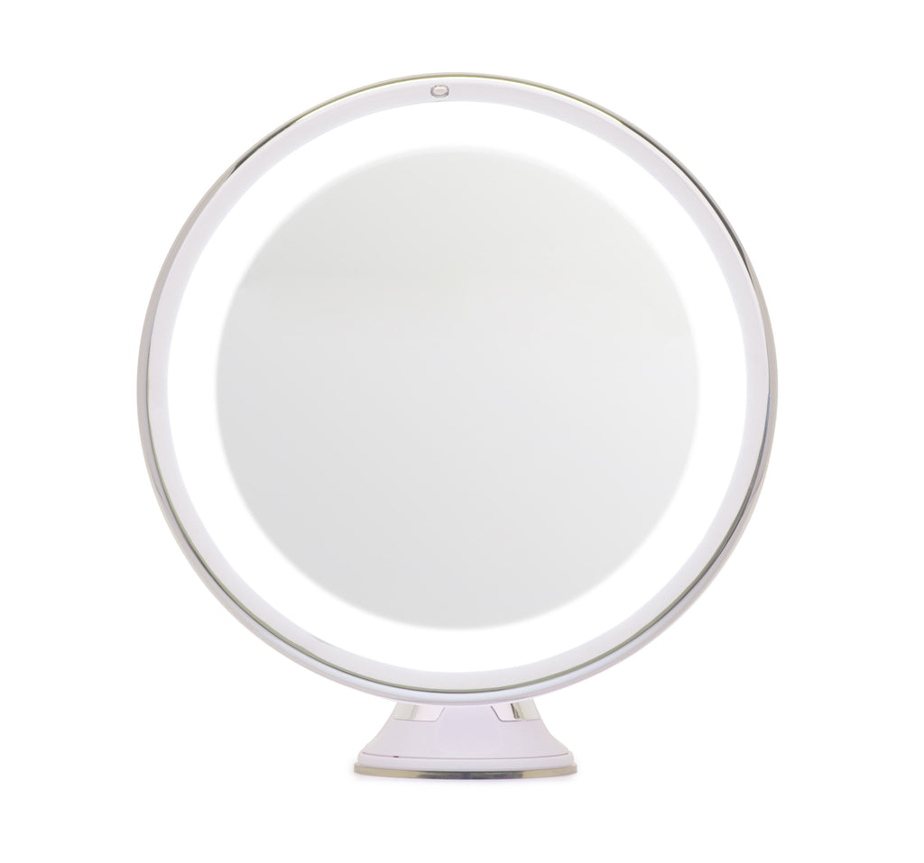 Mirrorvana 8 Inch Lighted Magnifying Makeup Mirror 5x
