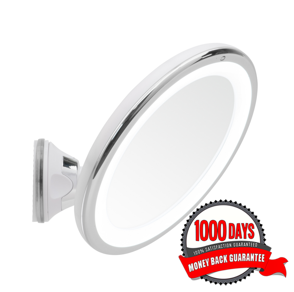 Mirrorvana 8-Inch Lighted Magnifying Makeup Mirror, 5X Magnification