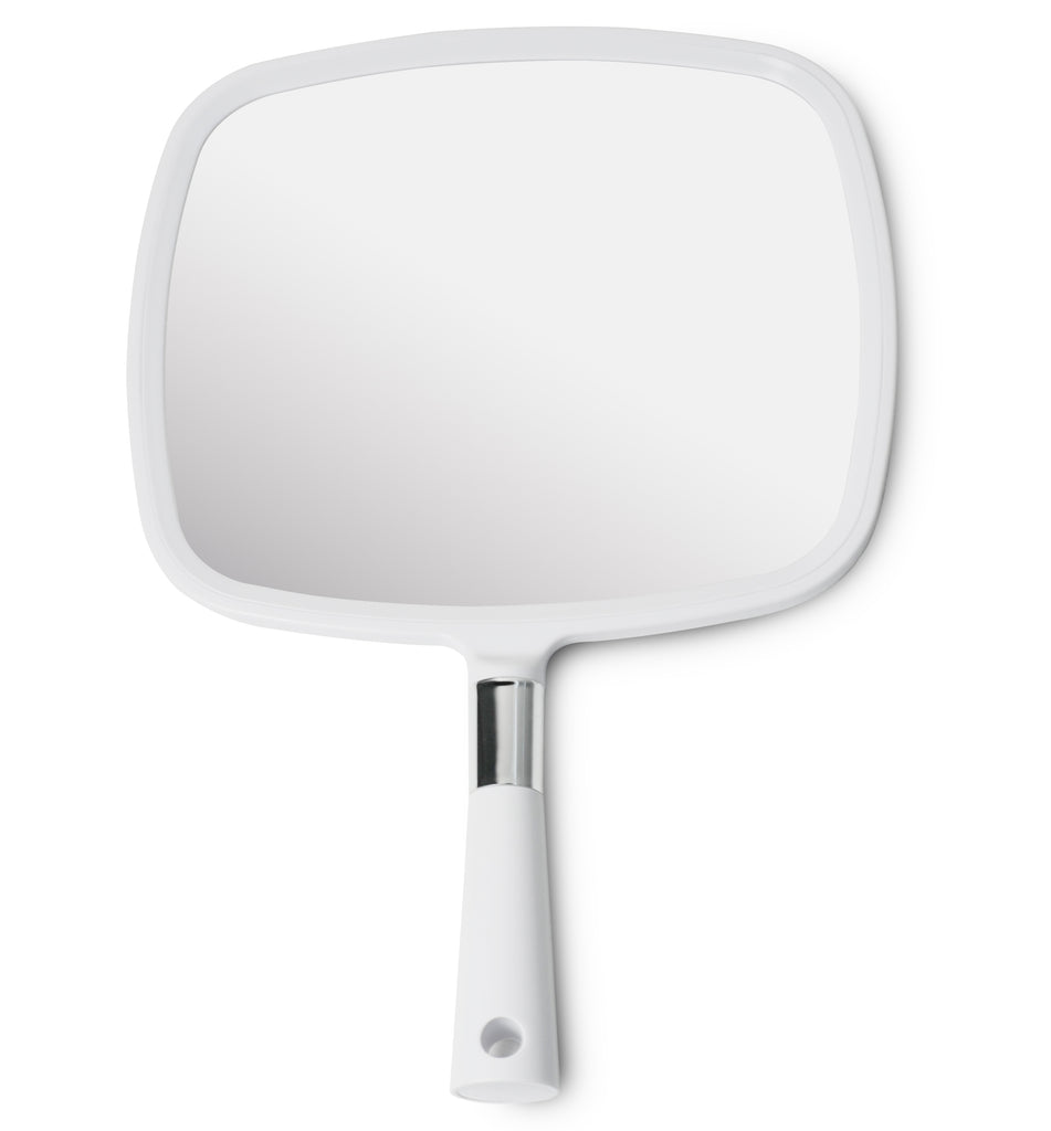 Mirrorvana Large & Comfy Hand Held Mirror (White), Pack of 10