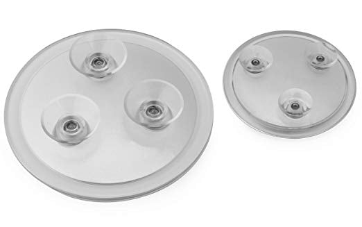 Mirrorvana 15X & 20X Spot Magnifying Mirror Set with Suction Cups - Compact & Travel Ready - 6-Inch & 4-Inch Diameter