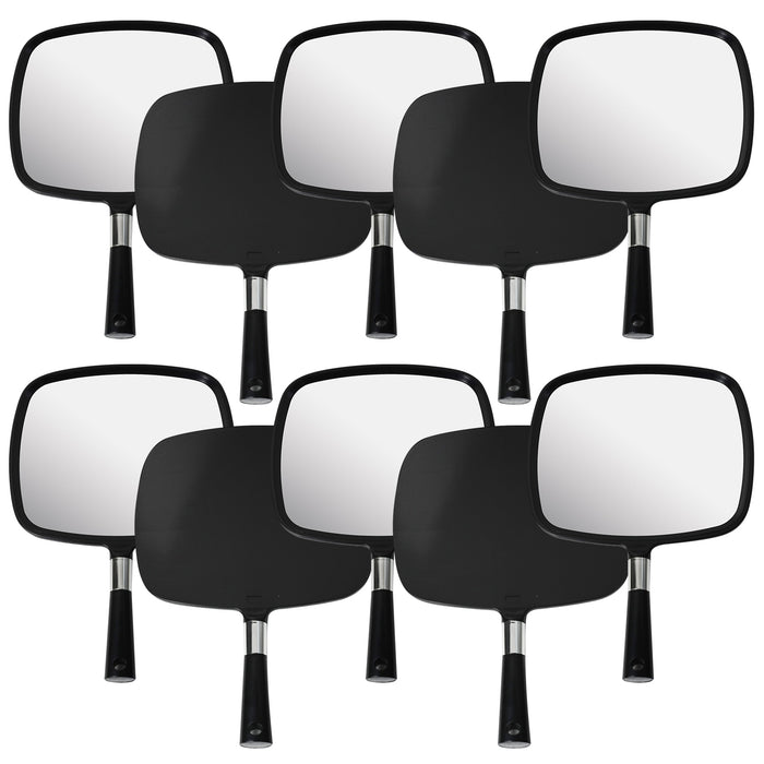 Mirrorvana Large & Comfy Hand Held Mirror (Black), Pack of 10