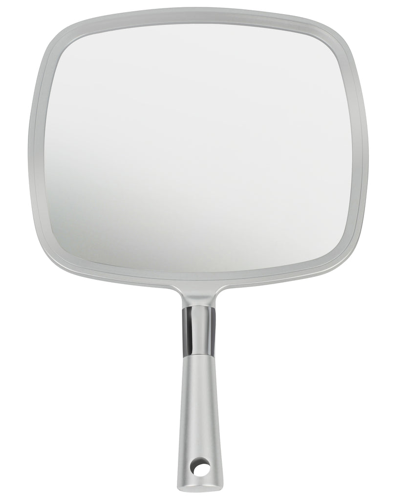 Mirrorvana Large & Comfy Hand Held Mirror (Silver), Pack of 10