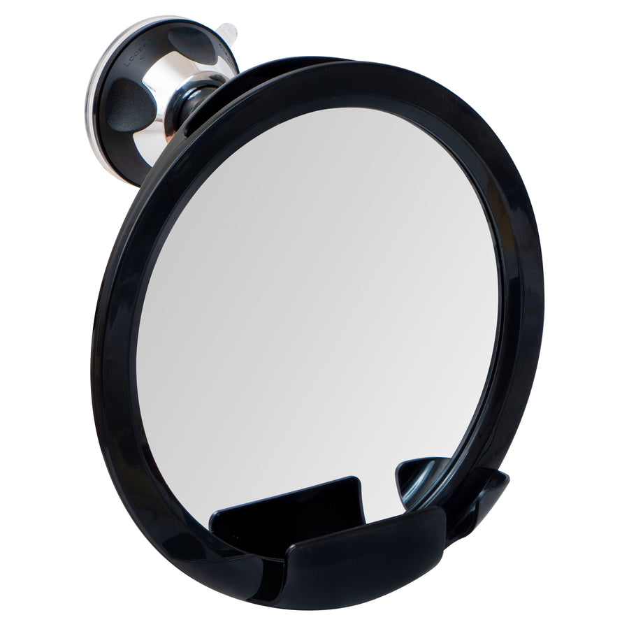 "2018 Shatterproof Fogless Shower Mirror For Shaving with Razor Holder and Superior Sticky Suction-Cup, 8"" Diameter (Including Frame)"
