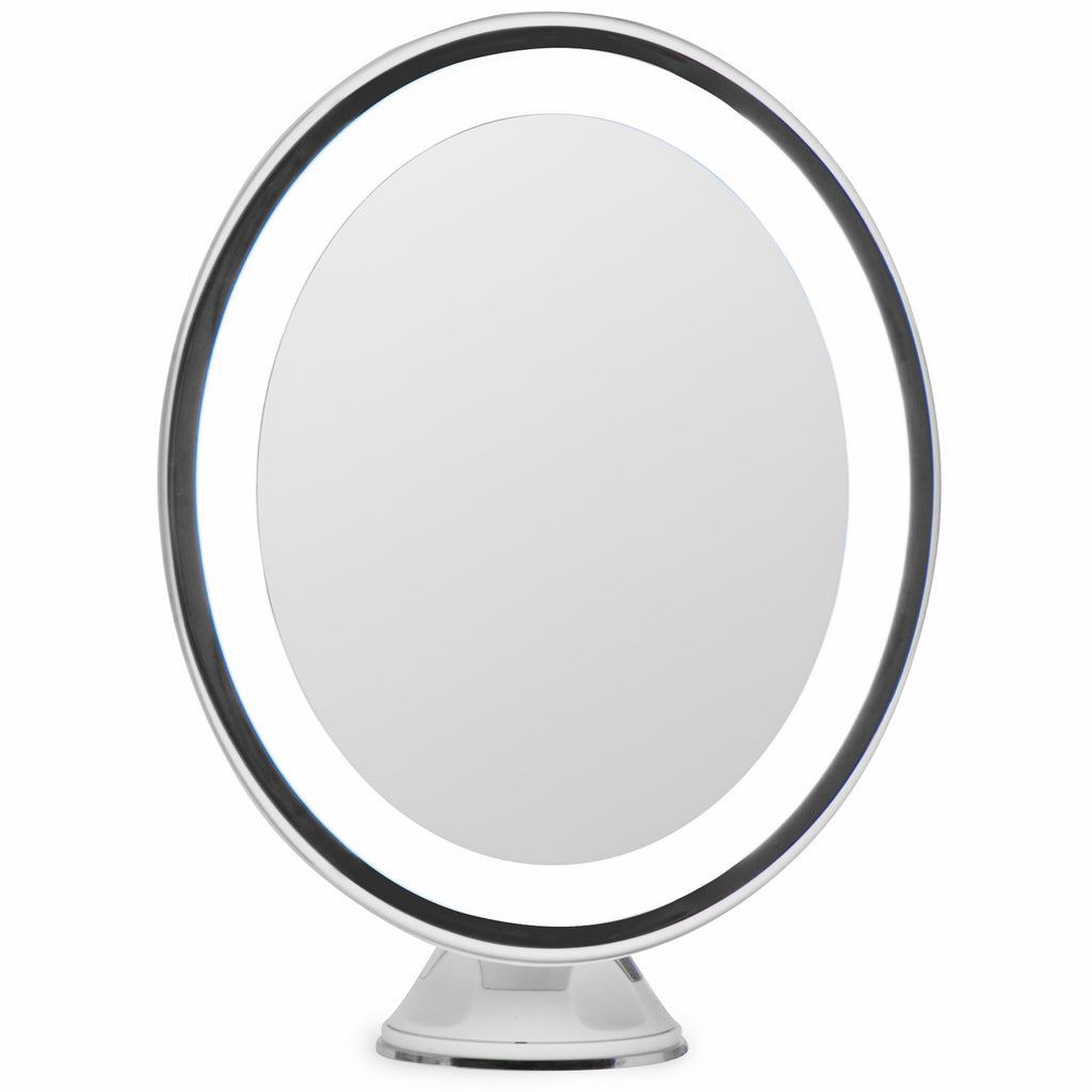 Lightluxe 5x lighted magnifying makeup mirror w bright led lights lightluxe 5x lighted magnifying makeup mirror w bright led lights 360 swivel next aloadofball Image collections