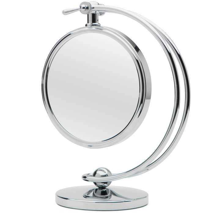 VISION-360 Height Adjustable 7-inch Doubled Sided Vanity Mirror with 7x Magnification by Mirrorvana