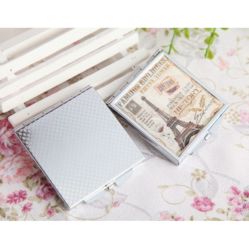 Generic Compact Square Makeup Mirror (RANDOM DESIGN & SHIPS FROM CHINA), 1 Piece