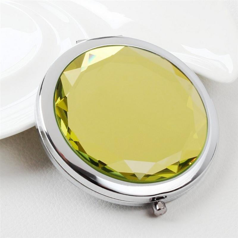 Generic Dual Sided Compact Pocket Mirror (RANDOM DESIGN & SHIPS FROM CHINA), 1 Piece