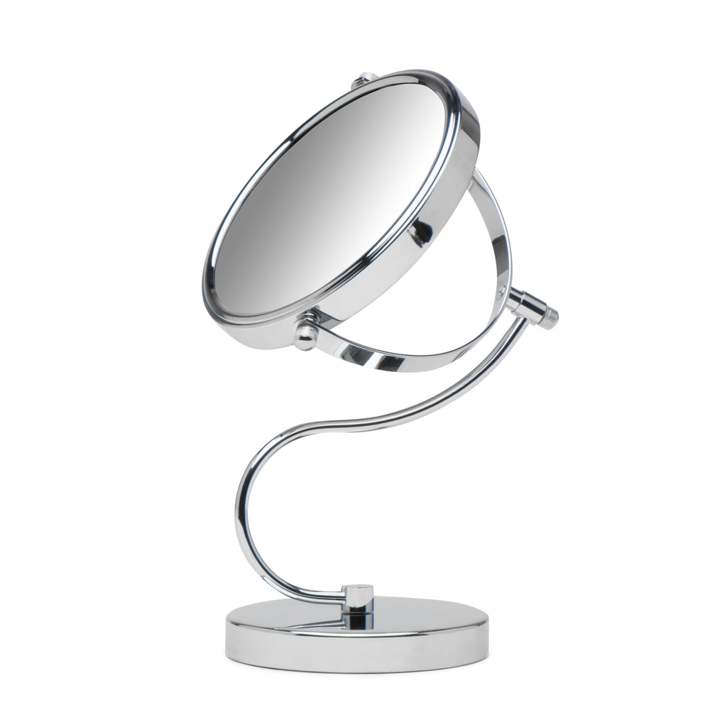 Cute N Curvy Double-Sided Makeup Mirror w/1x 10x Magnification for Vanity Countertop by Mirrorvana, 6-Inch