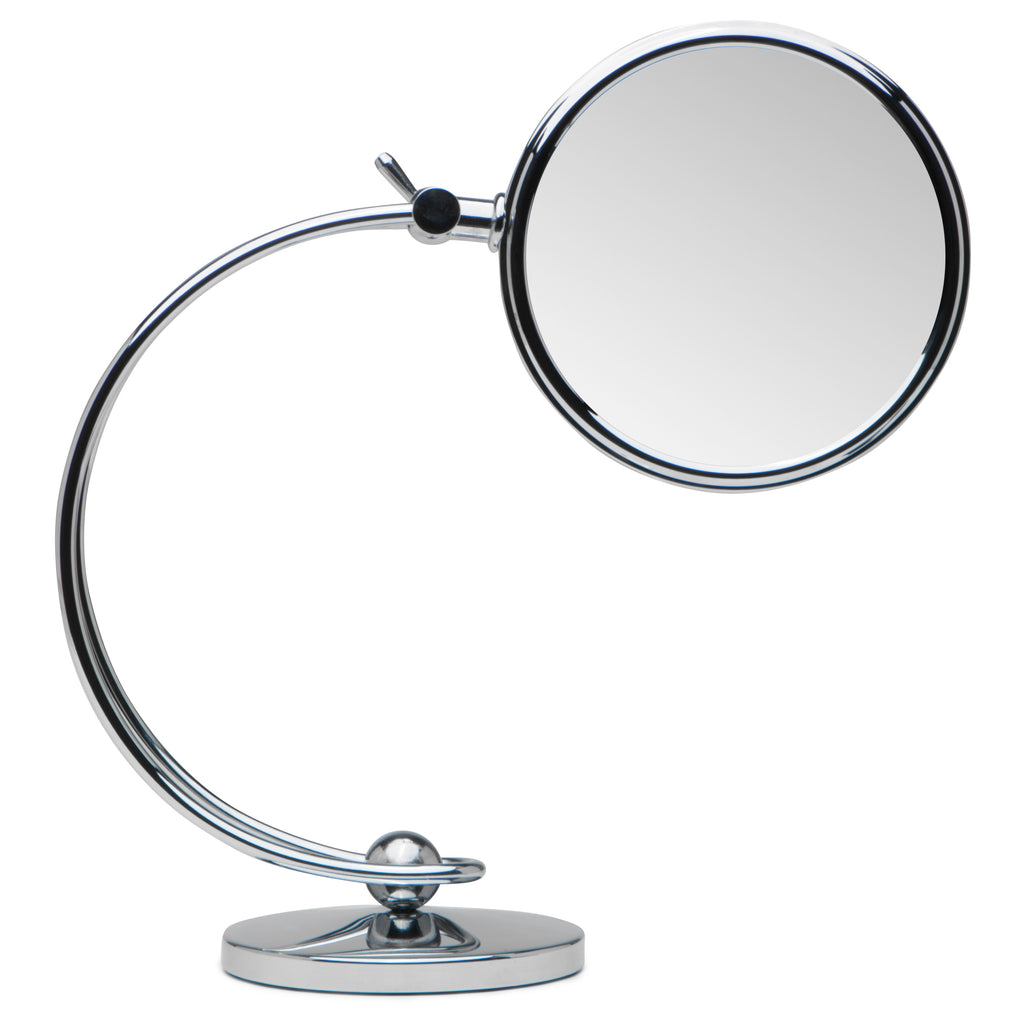 Mirrorvana 360° Height Adjustable Magnifying Makeup Mirror ~ Double Sided 7x/1x Magnified ~ 7-Inch Diameter, 11-Inch Height