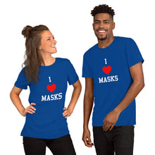 """I Love Masks"" Short-Sleeve Unisex T-Shirt"