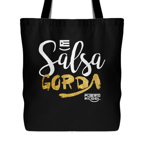 Salsa Gorda (Black Tote Bag)