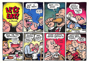 "Copy of R. Crumb Greeting Card: ""Let's Eat"""
