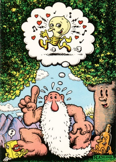 "R. Crumb Greeting Card: ""Head Comix"""
