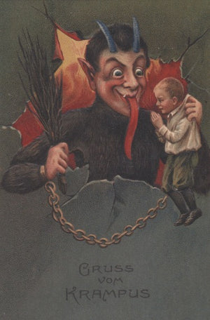 Krampus Card: Green Vom Krampus