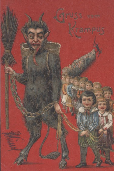 Krampus Card: Line Of Children