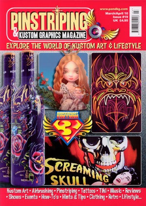 Pinstriping & Kustom Graphics Magazine #19