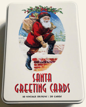 Santa Greeting Cards Set