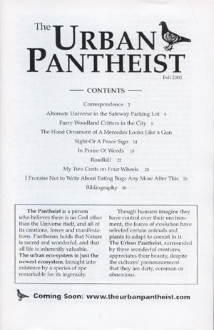 Urban Pantheist Zine #2 (Fall 2002)