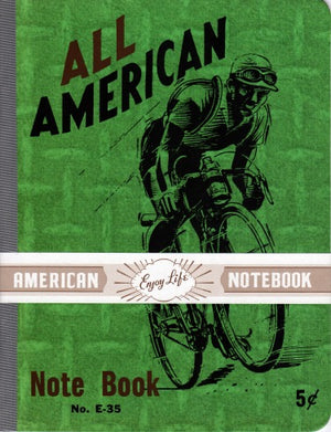 Bicyclist Vintage Notebook