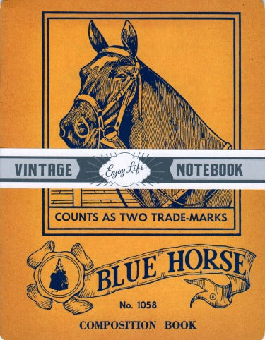 Blue Horse Vintage Notebook