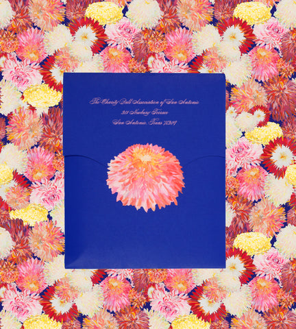 Chrysanthemum Ball Invitation