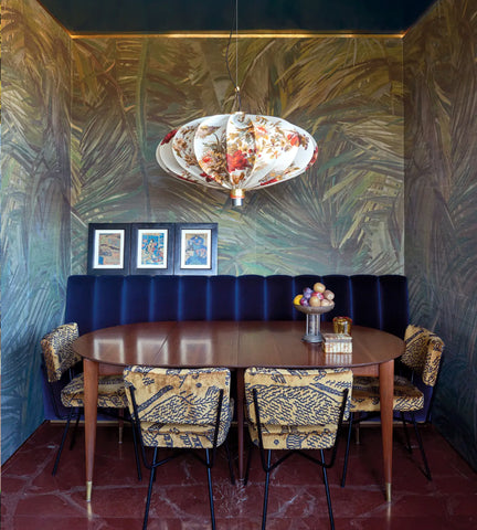 Grace Wallpapered Florentine Dining Room, Italy