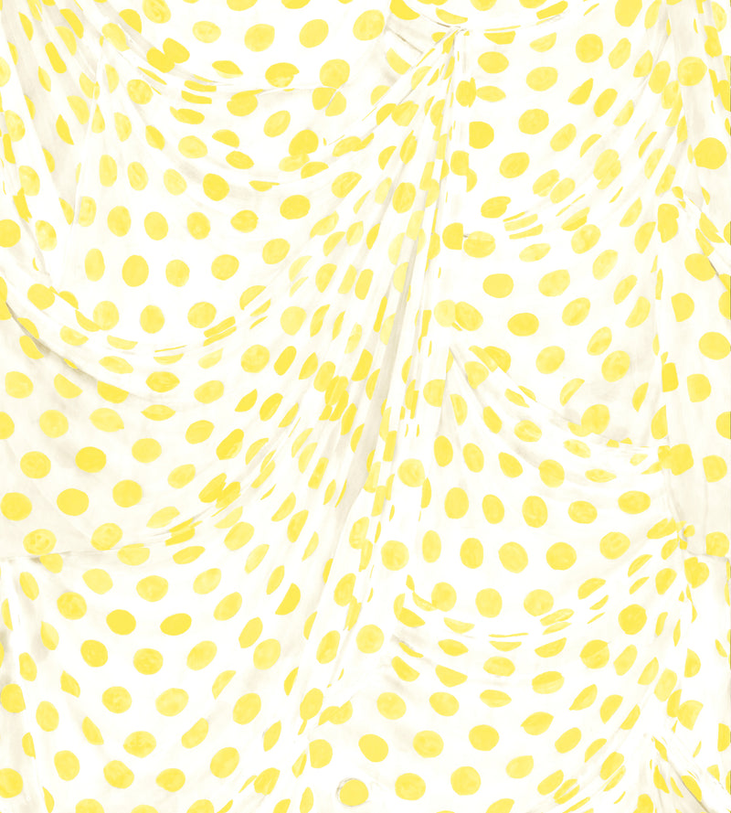 Audrey Dot Yellow Wallpaper