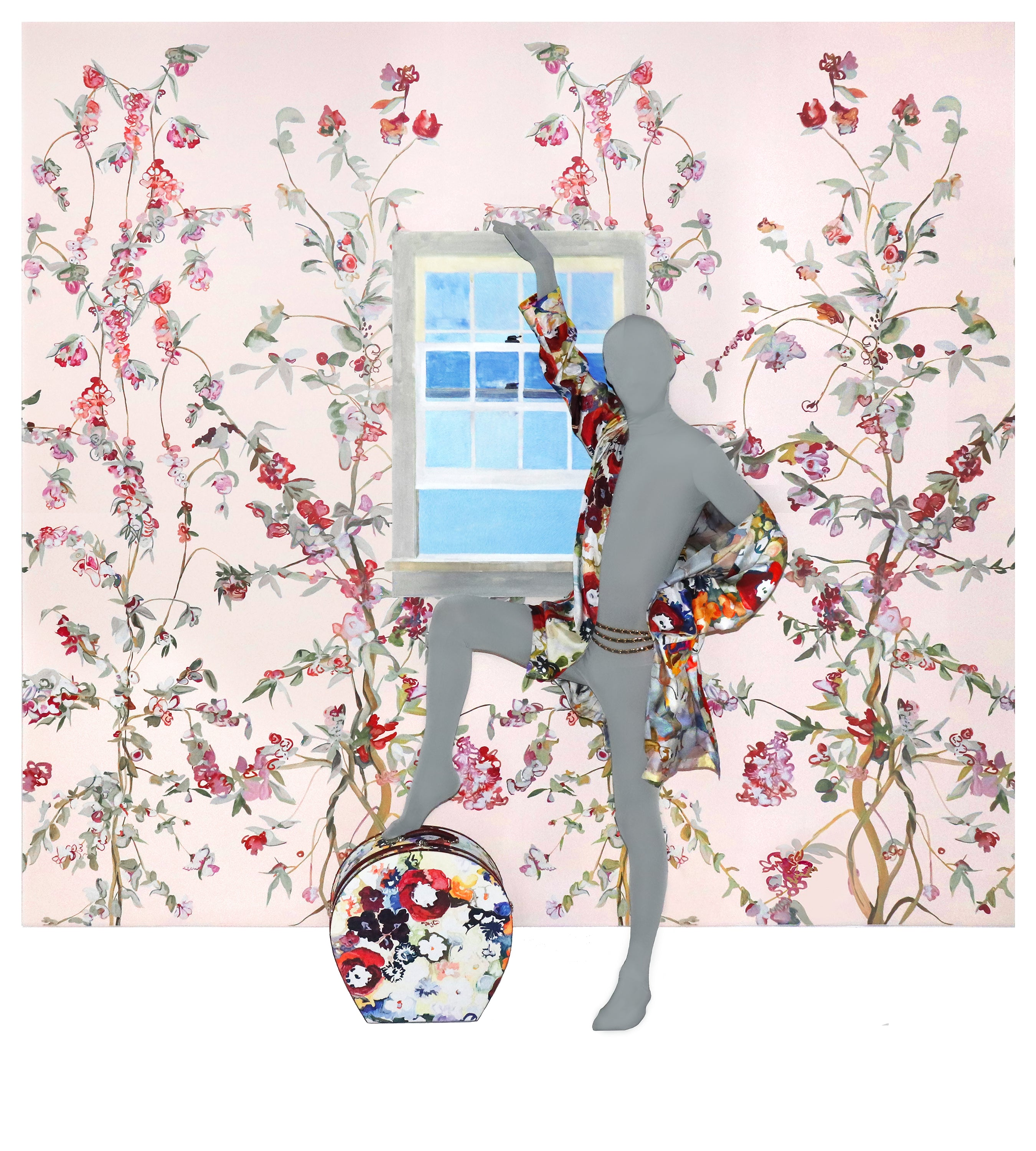 Guinevere Pink Chinoiserie Wallpaper
