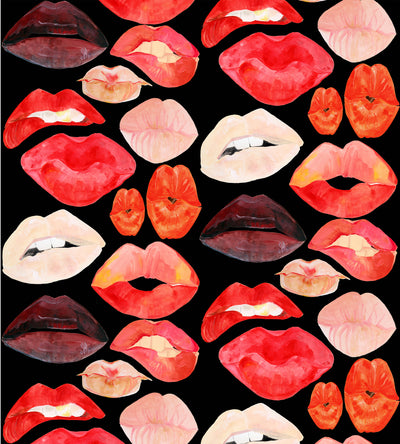 Lips on Black Wallpaper