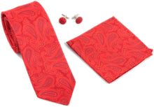 Kingsquare Paisley Tie, Pocket Square, Cufflinks Set