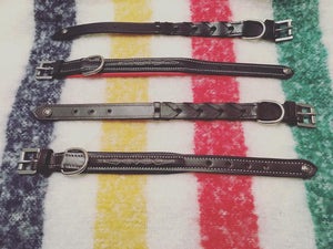 Fancy Stitch and Laced Dog Collars