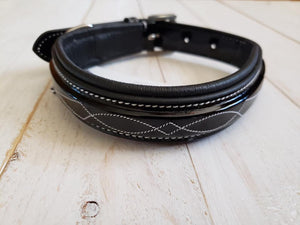 The Grand Prix Collection Special: Patent Leather Collar with Fancy Stitch