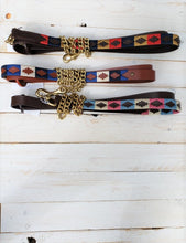 Load image into Gallery viewer, The Polo Collection: Embroidered Leather Lead Shank