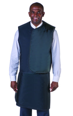Men's Apron and Vest: Light Weight Lead with Thyroid Collar
