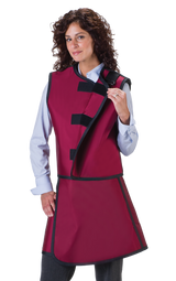 Women's Apron and Vest: Light Weight Lead with Thyroid Collar
