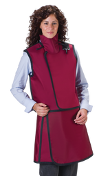 Women's Apron and Vest: Lead Free with Thyroid Collar