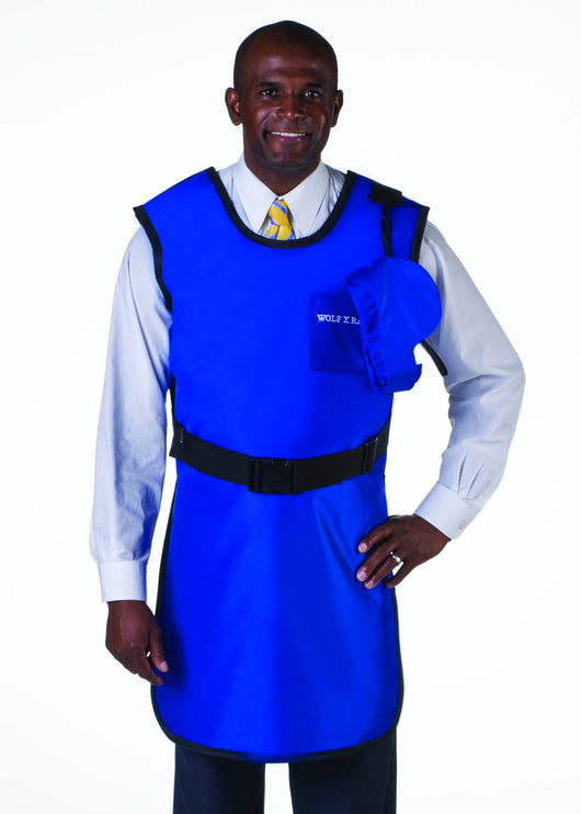 Coat Apron: Lead Free with Thyroid Collar