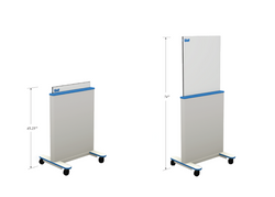 Mobile Adjustable Height Clear-Pb Barrier