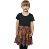 Kids Printed Book Girls Dress with Pockets