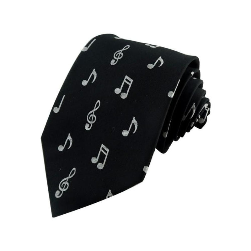 Musical Tie, Music Mens Tie, Geeky Tie, Music Notes Woven Silk Tie - Svaha Apparel
