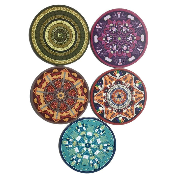 5-Pack STEAM Mandala Coasters