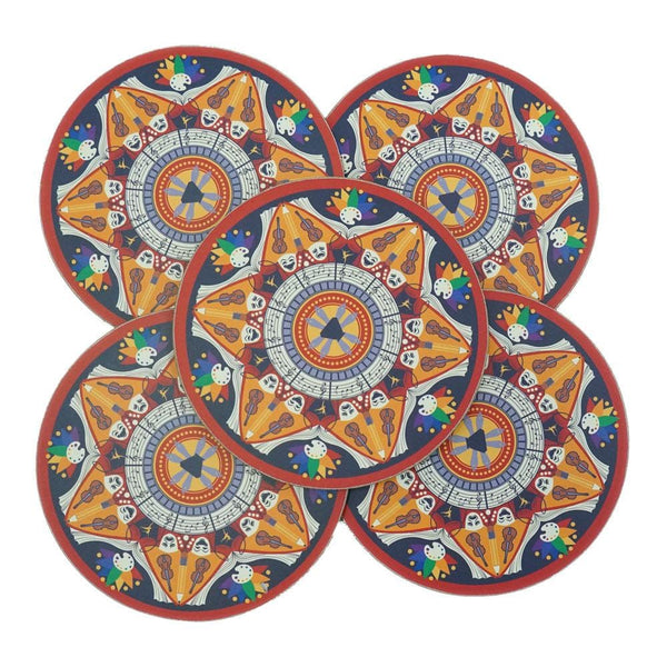 5-Pack Art Mandala Coasters