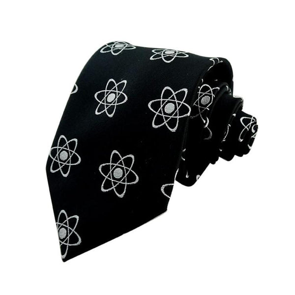Science Tie, Geeky Tie, STEM Tie, Chemistry Tie, Physics Tie, Rutherford-Bohr Model Atom Woven Silk Tie - Svaha Apparel