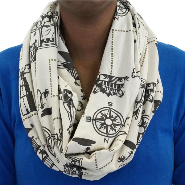 7 Wonders of the World Infinity Scarf