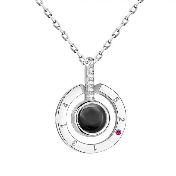 Projective I Love You Stainless Steel Necklace