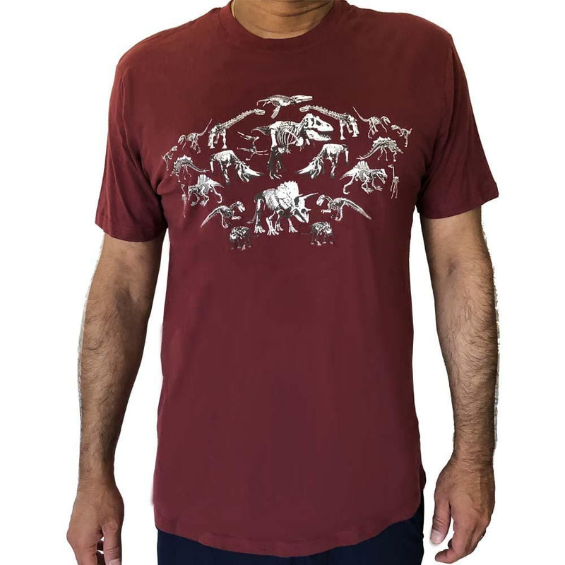 Skeleton Shirt, Dinosaur Shirt, Dinosaur Fossils Shirt, Mirrored Dinosaur Tee, Jurassic Shirt, T-Rex Shirt, Tricertops Shirt, Stegosaurus Shirt, Reptile Shirt, Evolutionary History Shirt, Extinction Shirt, Dinosauria Shirt, Biology Shirt, Adults Evolutionary T-Shirt - SVAHA USA