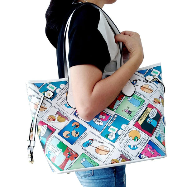 Science Comic Purse, Science Comic Bag, Science Comic Tote, Ameoba Sisters Tote, Science Tote, Comic Tote, STEM Bag, Ameoba Sisters Tote - SVAHA USA