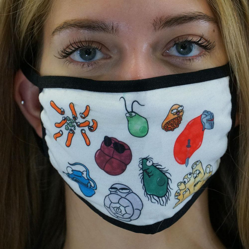 Amoeba Sisters Non-medical Printed Cloth Face Masks